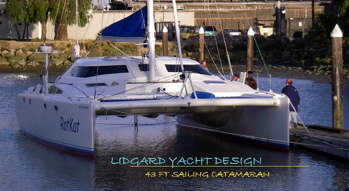 Catamaran 43 by Lidgard Yacht Design