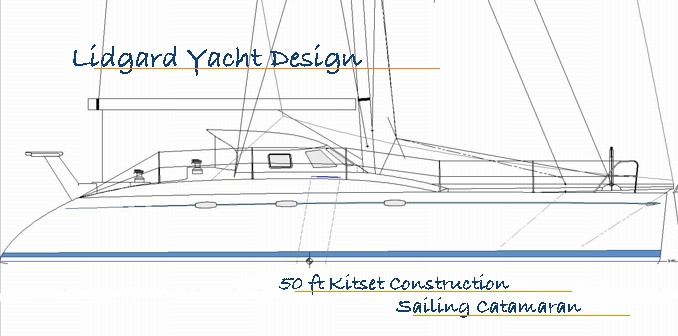 50 ft Kitset build sailing catamaran