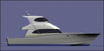 52 ft production monohull powerboat designs by Lidgard Yacht Design