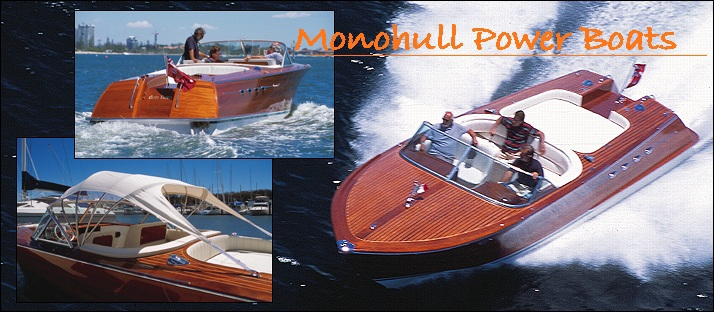 Monohull powerboat designs by Lidgard Yacht Design modern,classic and retro power boat design