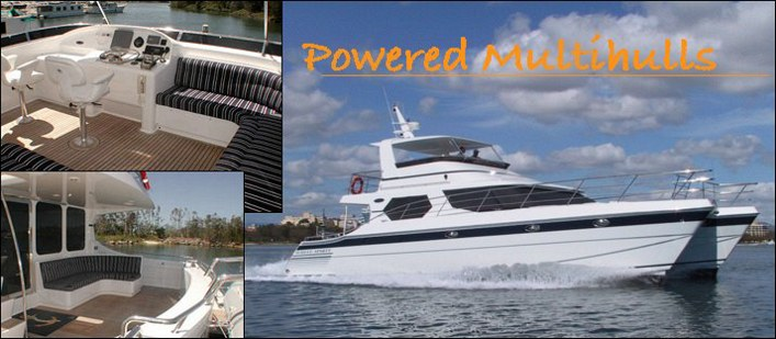 Powered multi hull by Lidgard Yacht Design, power catamaran designs