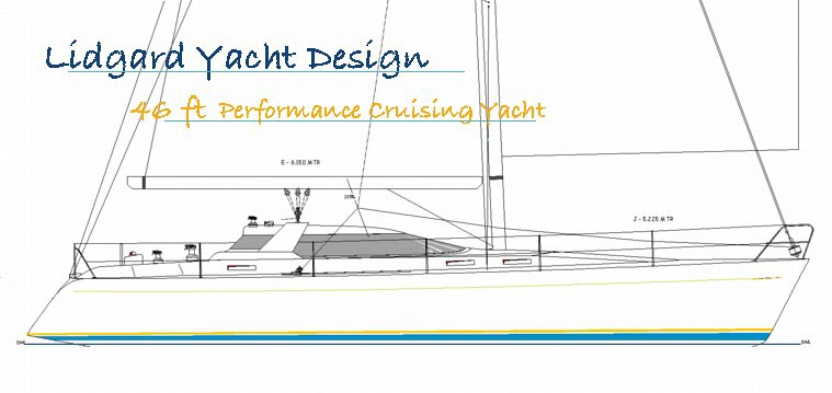 46 ft Cruising Yacht by Lidgard Yacht Design