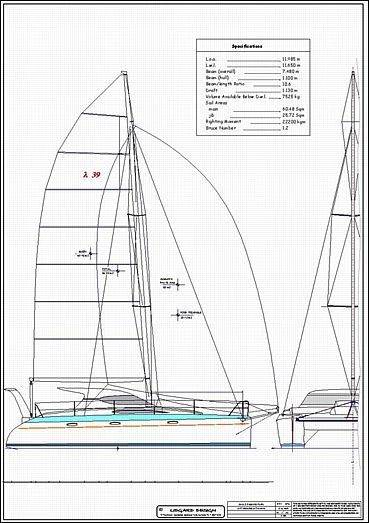 Stock monohull and multihull boat plans by Lidgard Yacht Design